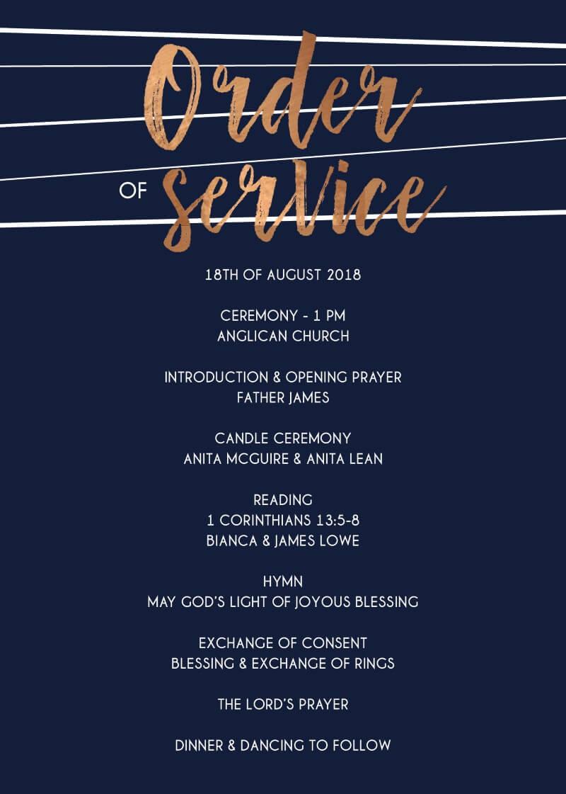 Love Lines - Wedding Programs