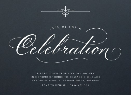 Celebration - bridal shower invitations