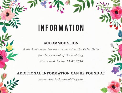 Flos Paradisi - Information Cards
