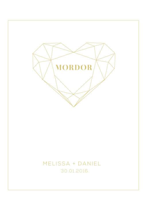 Diamond Love - table numbers