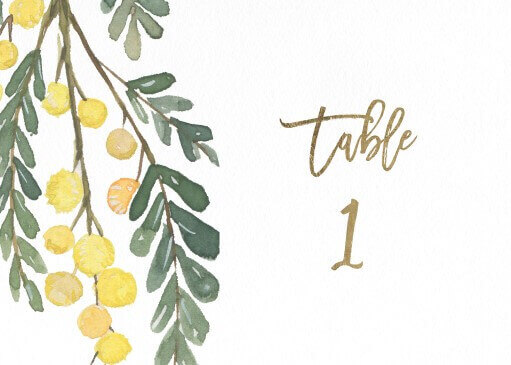 Golden Native - table numbers