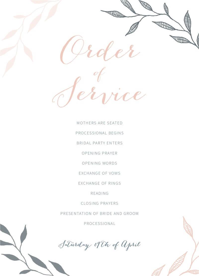 Leaves - Wedding Programs