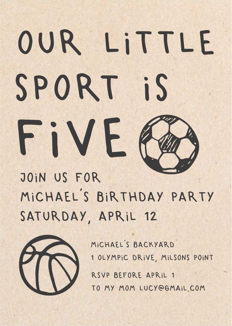 Soccer Party - Birthday Invitations
