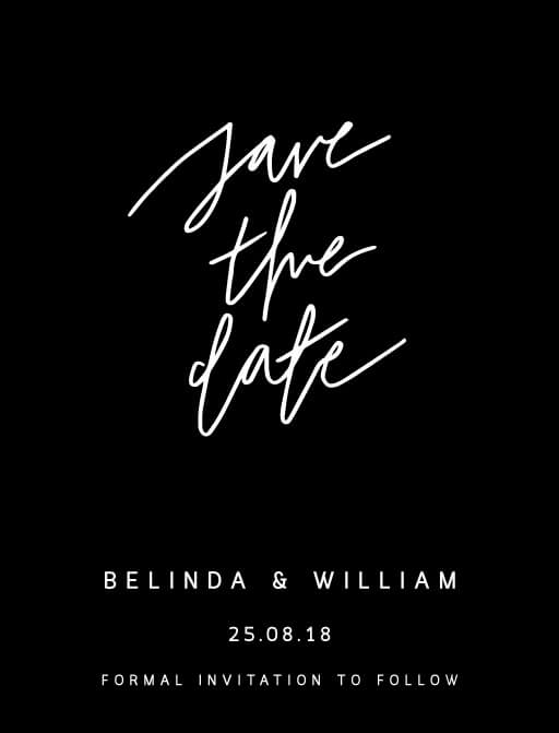 Hand drawn script - Save The Date