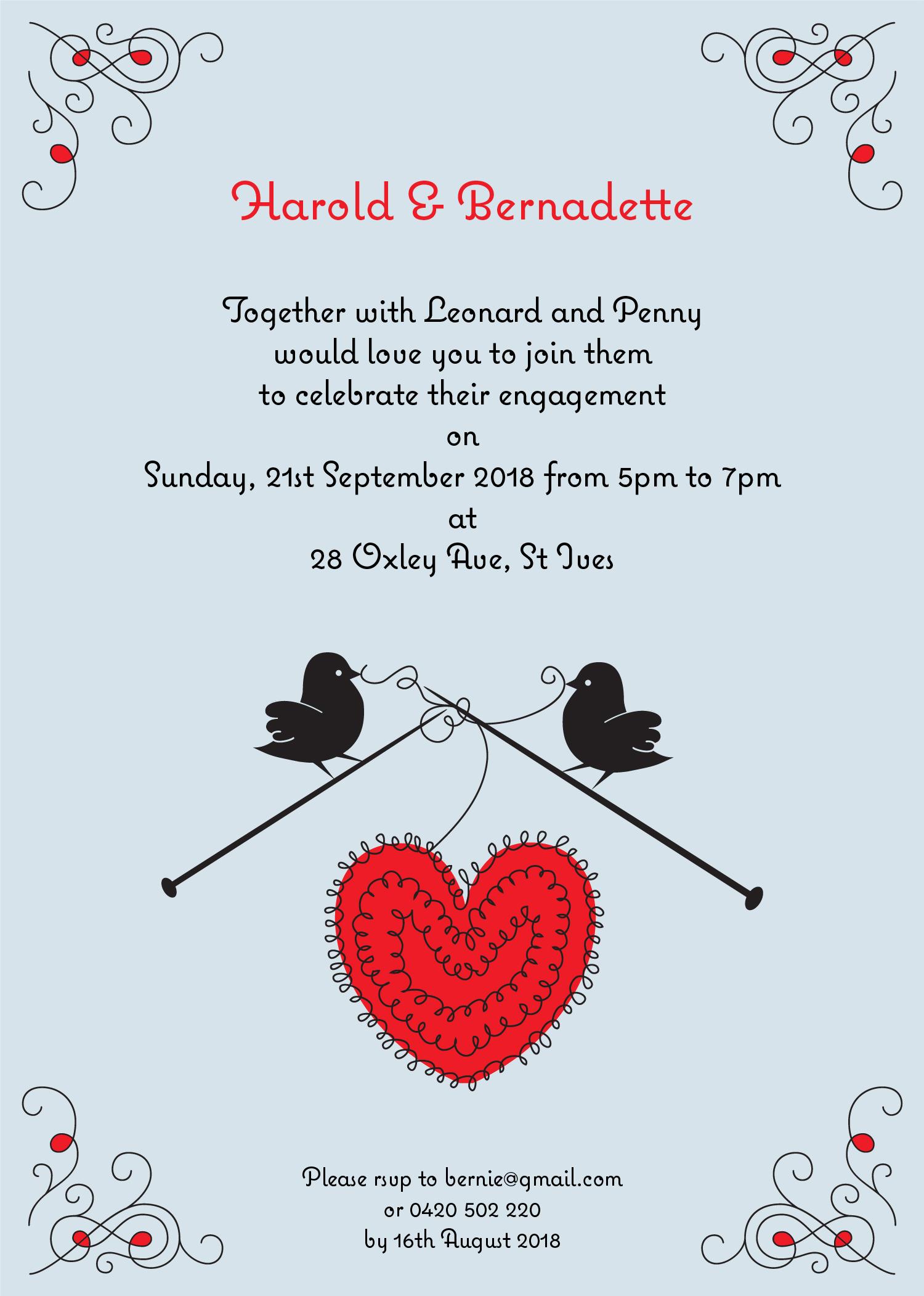 Lovebirds - Engagement Invitations