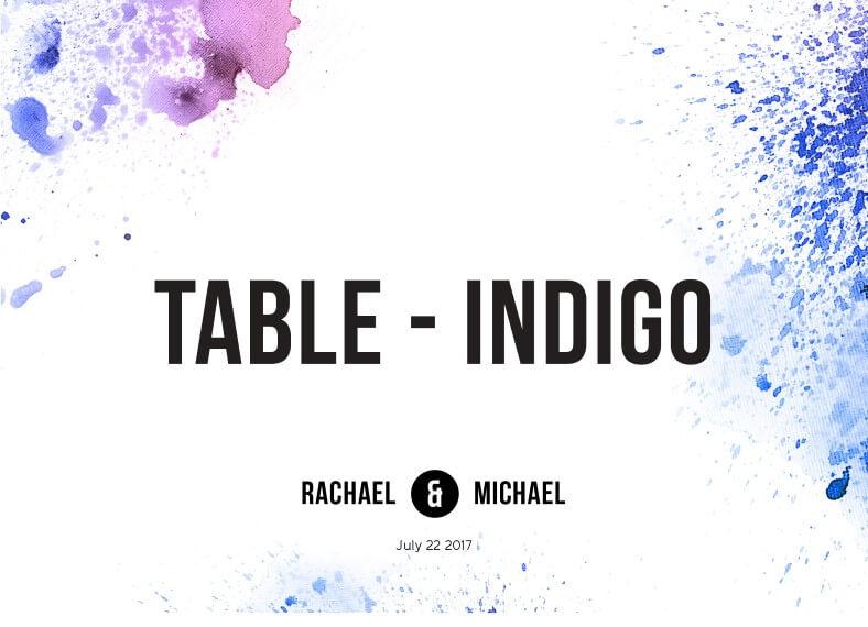 Watercolour splash - Table Numbers