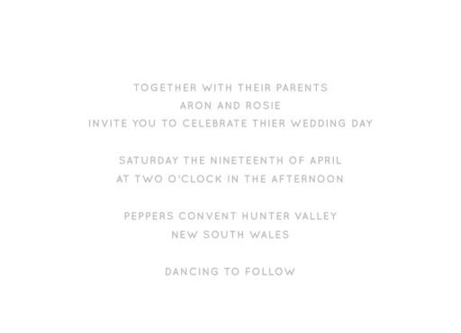 Type - Invitations