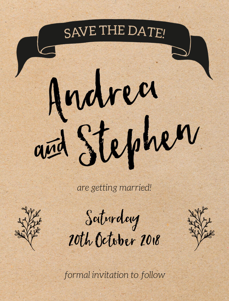 A Touch of Rustic - Save The Date