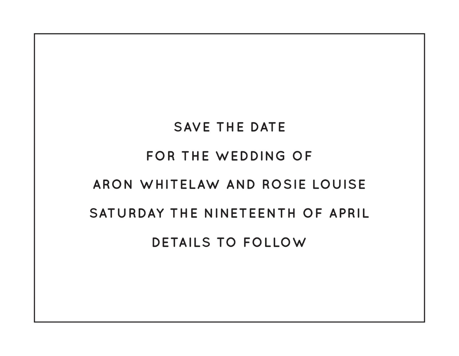 Type - Save The Date