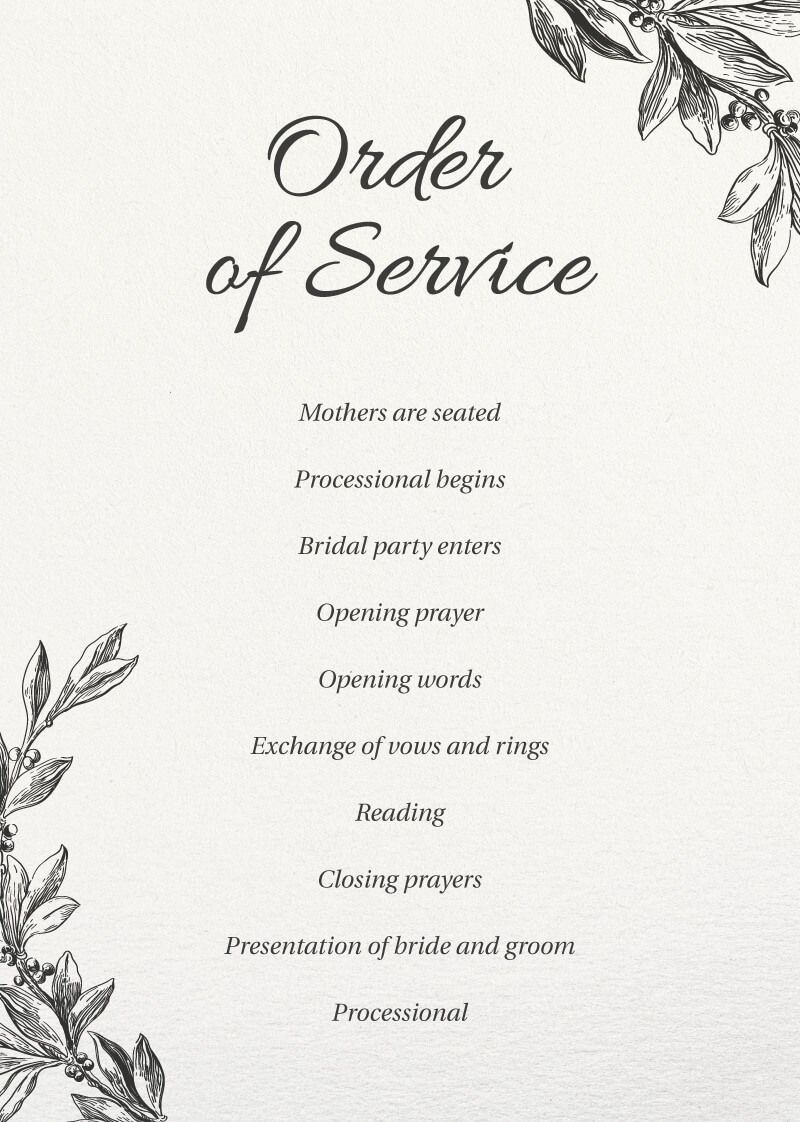 Bluemchen - Wedding Programs