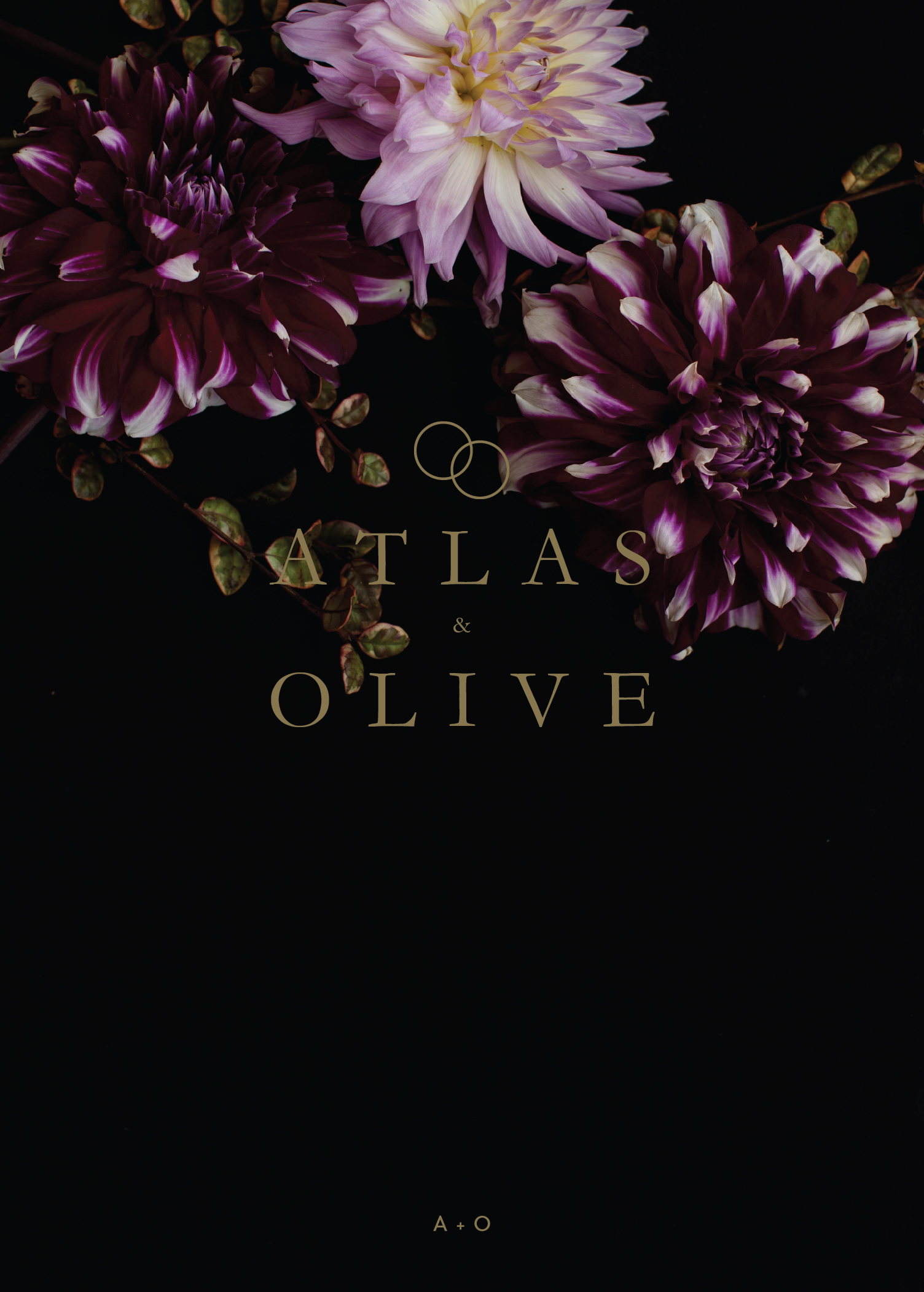Floral Atlas - Engagement Invitations