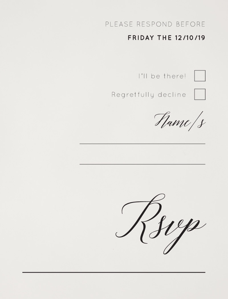 On the Day - RSVP