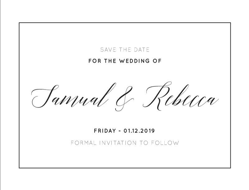On the Day - Save The Date