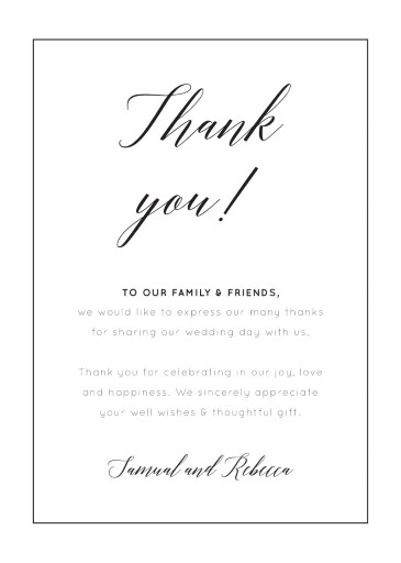 On the Day - Thank You Cards