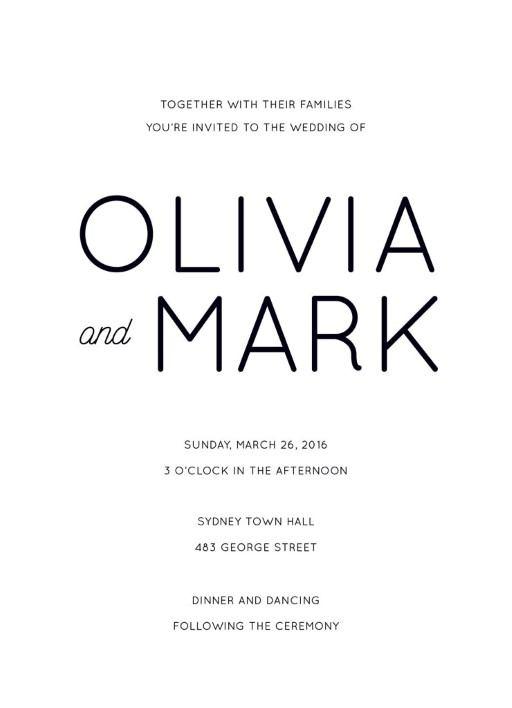 Modern - Invitations