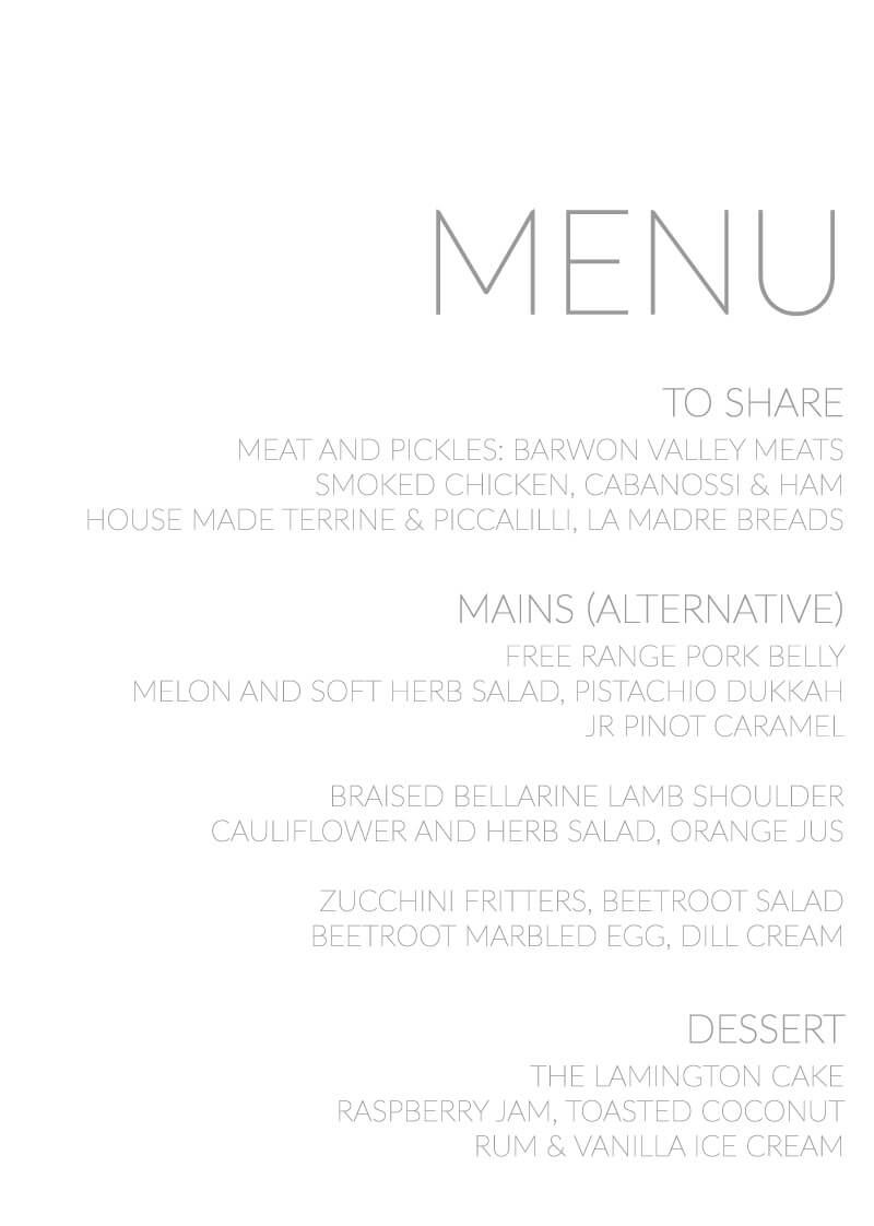Narrow - Menu