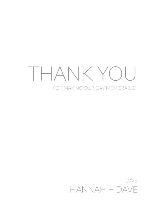 Narrow - Thank You Cards