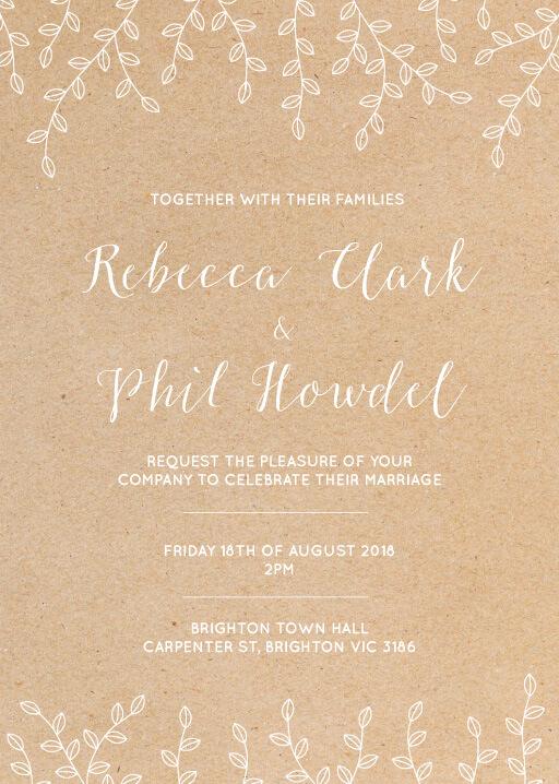 Rustic Romance Wedding Invitations - wedding invitations