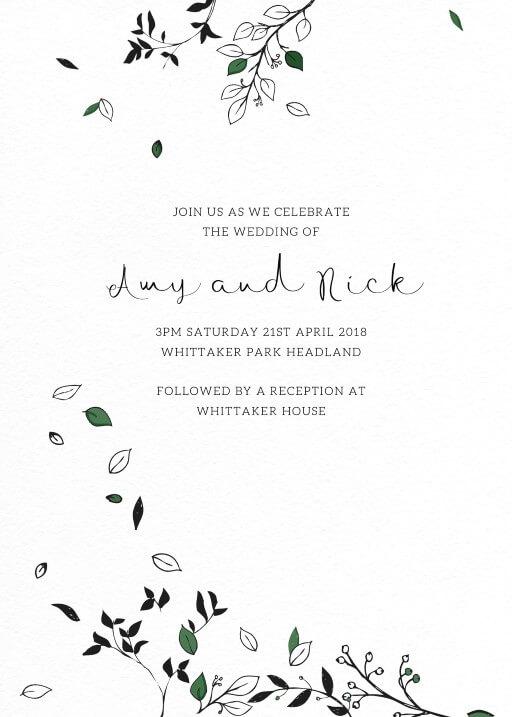 Free Falling Wedding Invitations - wedding invitations