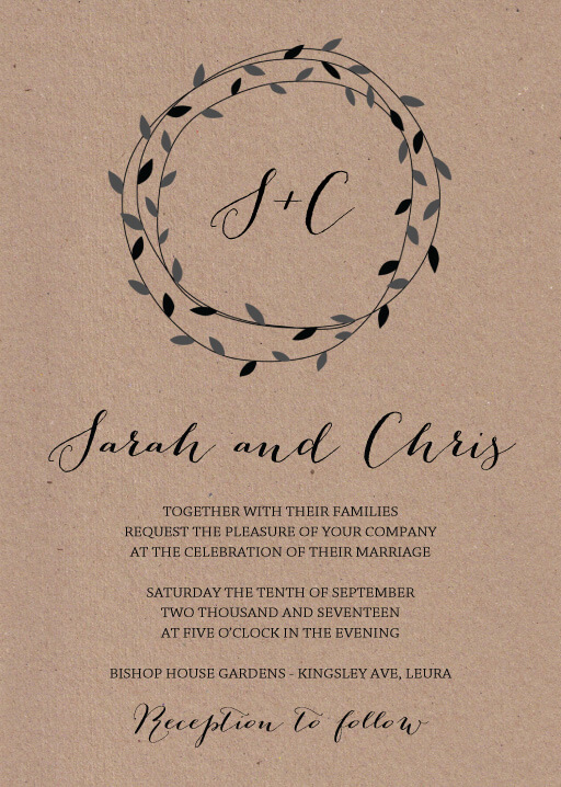 September - wedding invitations