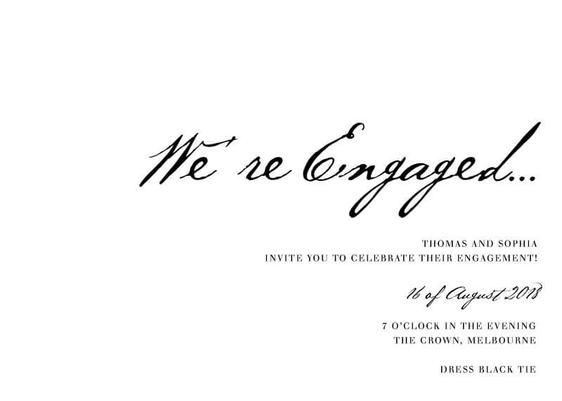 Simple Script - Engagement Invitations