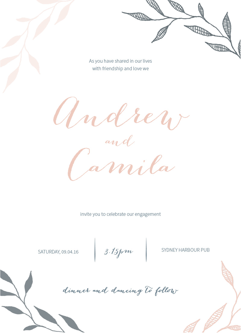 Leaves - Invitations