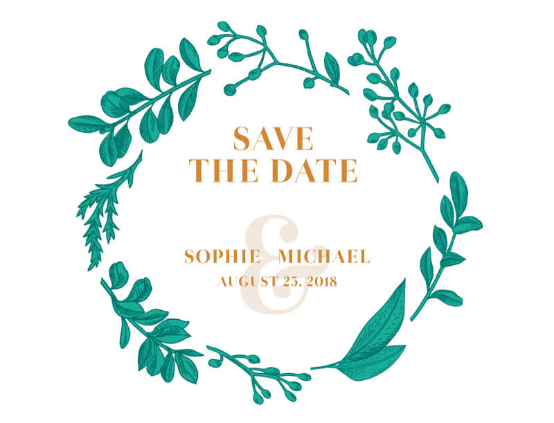 Teal romance - Save The Date