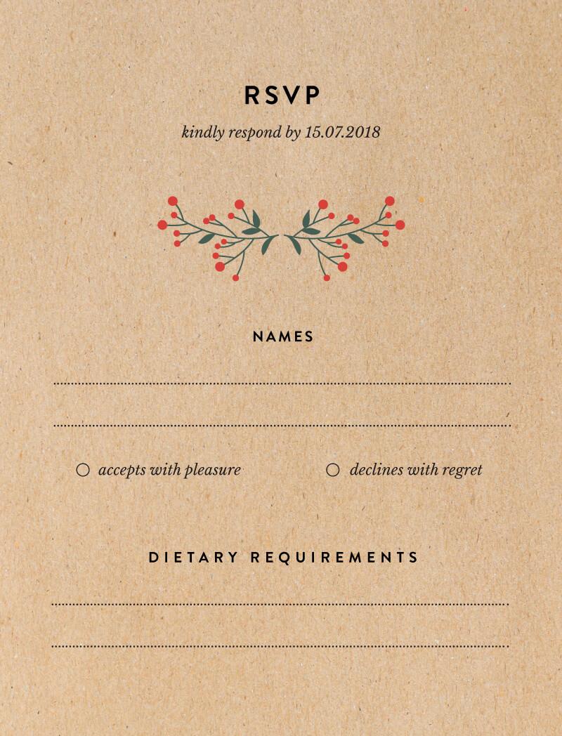 Berry lovely wedding - RSVP
