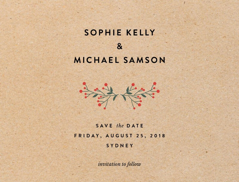 Berry lovely wedding - Save The Date