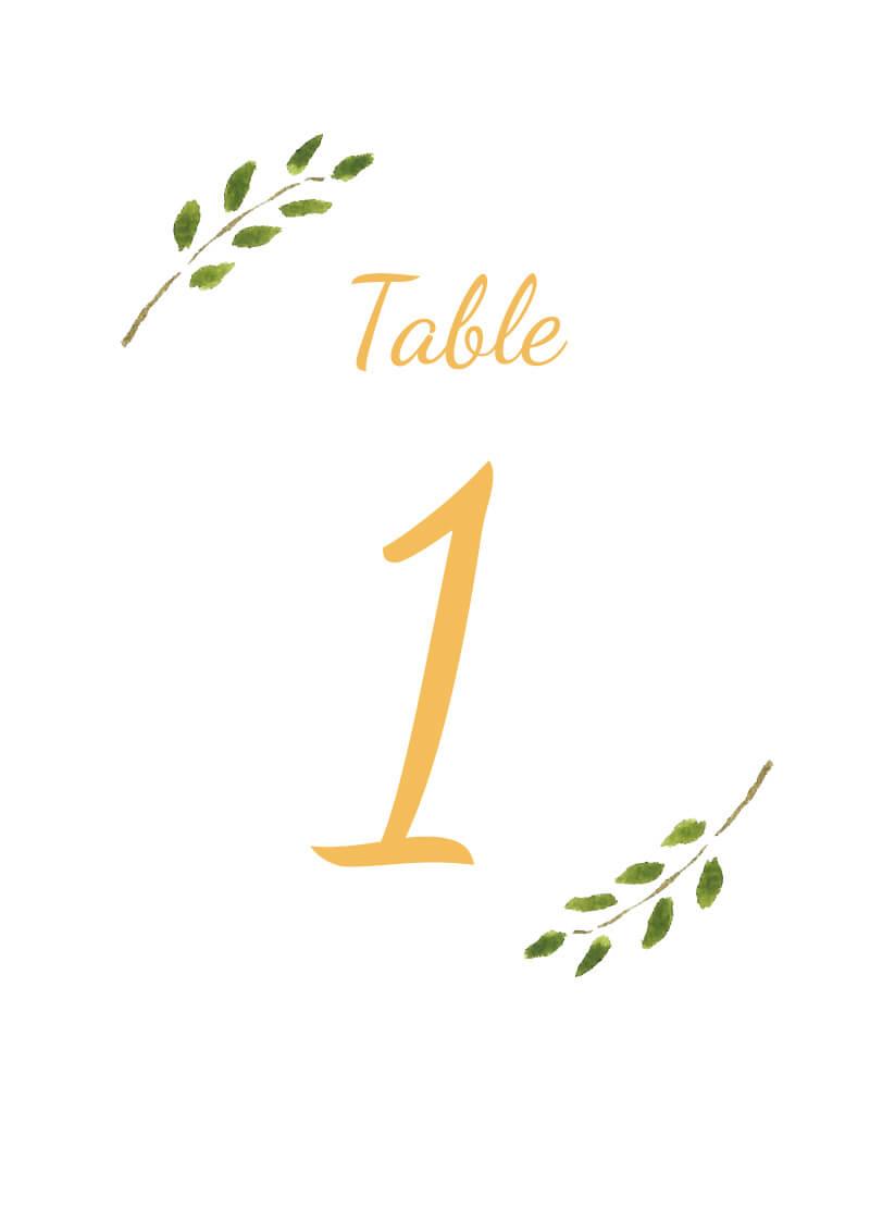 Olivia - Table Numbers