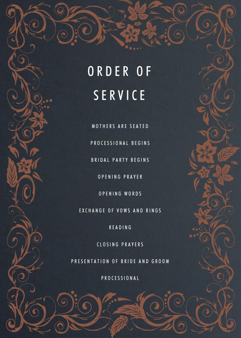 Blue Copper - Wedding Programs