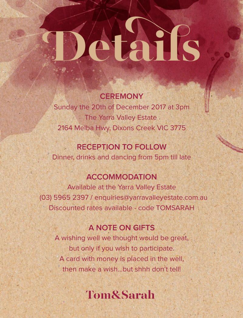 Secret Vineyard - Information