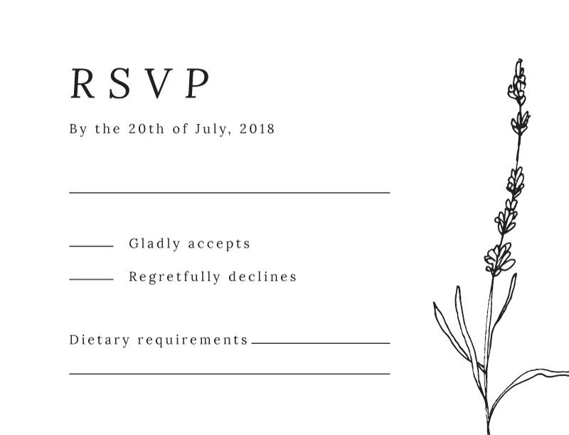 Delicate Lavender - RSVP