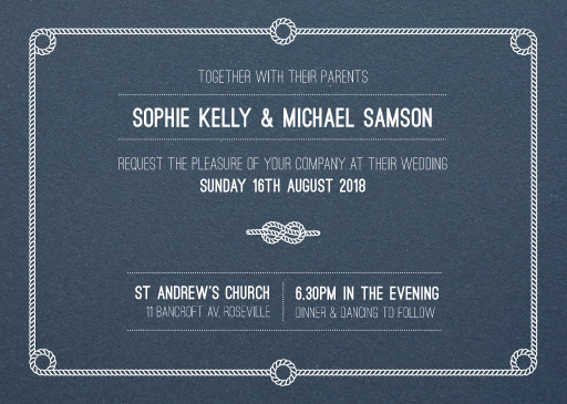 Tie the knot Wedding Invitations - wedding invitations