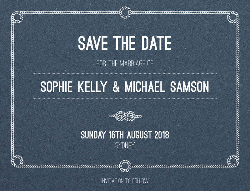 Tie the knot - Save The Date
