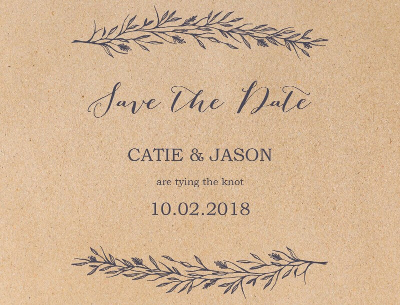 Chic n Rustic - Save The Date