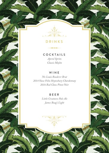 Beverly Hills Hotel - Wedding Menu
