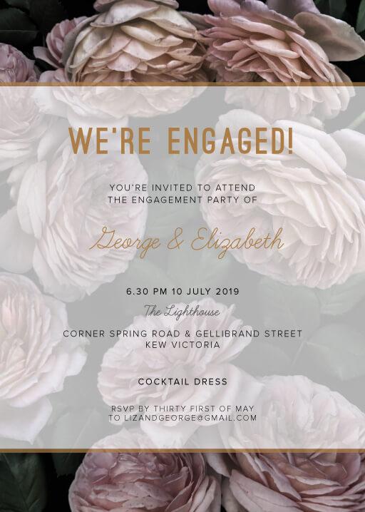 Myrtle Gentry - engagement invitations
