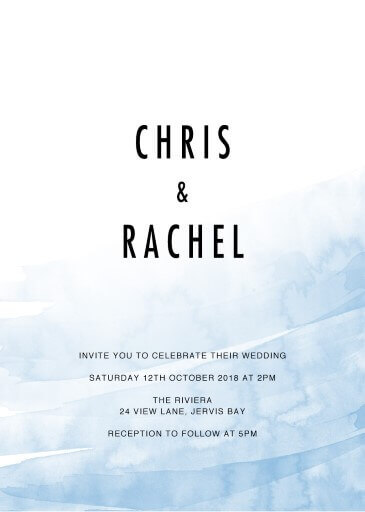 Riviera Wedding Invitations - wedding invitations