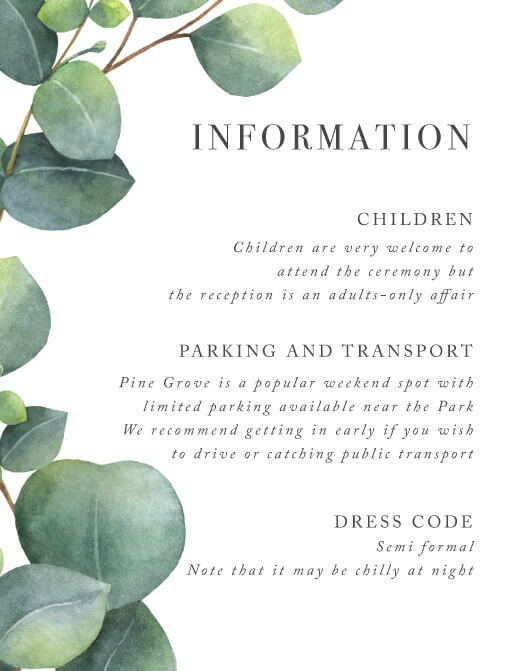 Eucalyptus - Information Cards