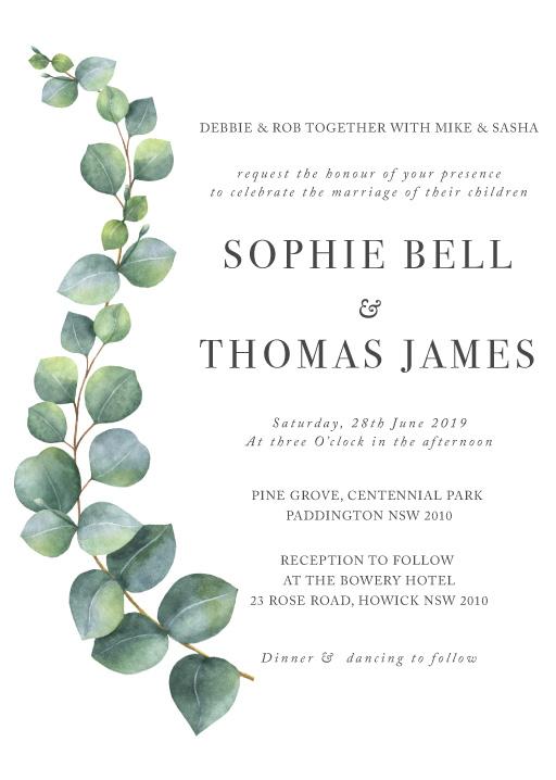 Eucalyptus - wedding invitations