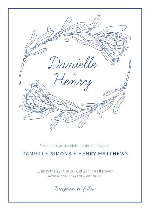 Playful Proteas - wedding invitations
