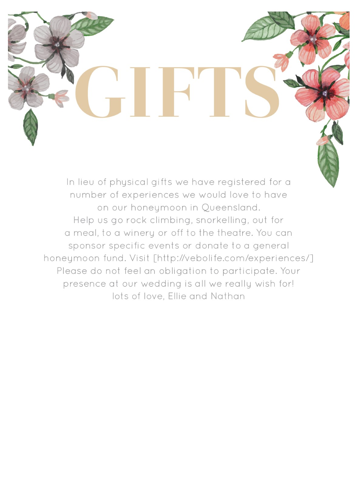 Floral Circle Invitation Set - Wishing Well