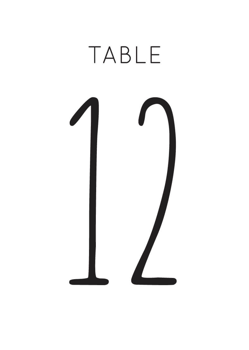 Cactus Hour - Table Numbers