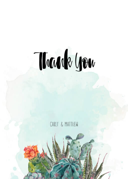 Cactus Hour - Thank You Cards