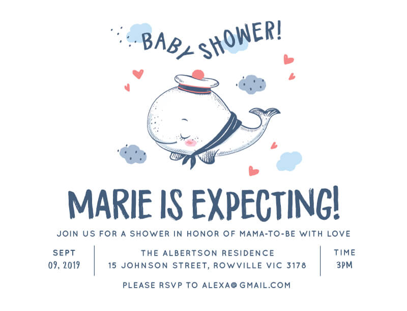 Baby Blue - Baby Shower Invitations