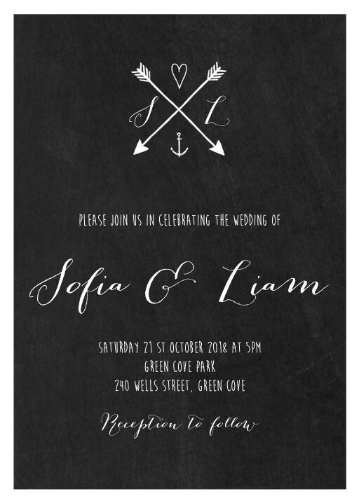 Love Arrows - wedding invitations