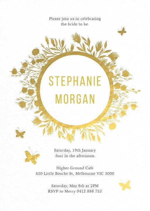 In the garden - bridal shower invitations