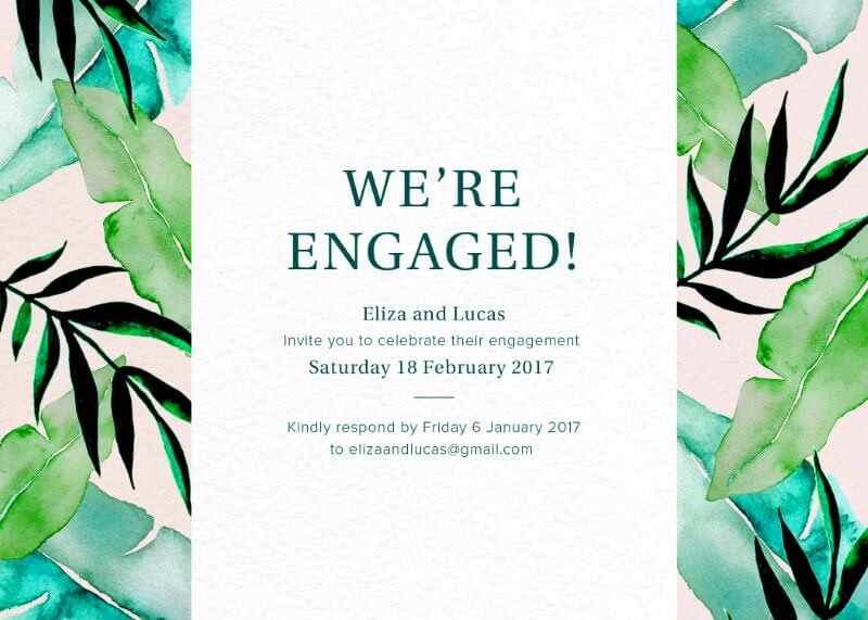 Kandara - Engagement Invitations
