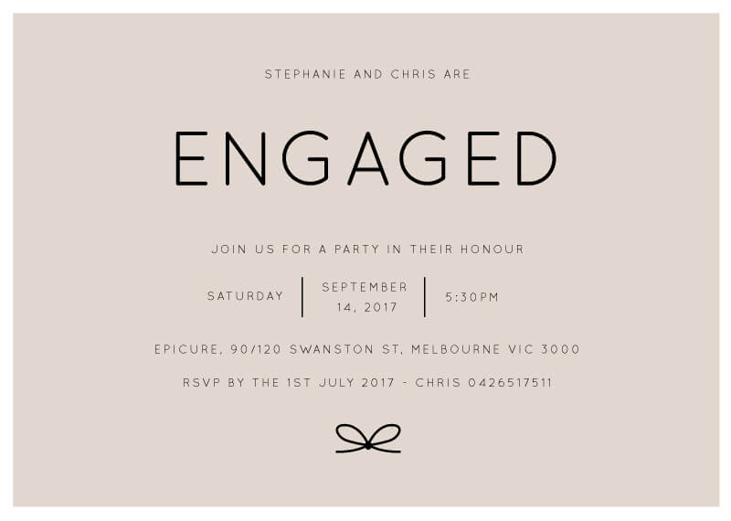 Knotted - Engagement Invitations